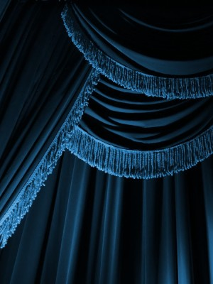 blue-curtain